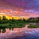 Sunset on the Umpqua River